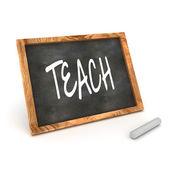 Blackboard Teach — Stock Photo