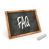 Blackboard FAQ — Stock Photo