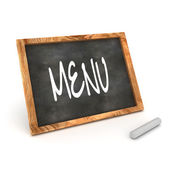 Blackboard Menu Illustration — Stock Photo