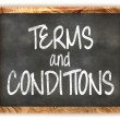 Blackboard Terms and Conditions — Stock Photo