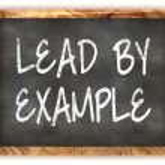 Blackboard Lead By Example — Stock Photo