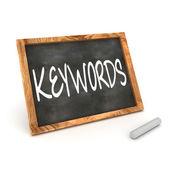 Blackboard Keywords — Stock Photo
