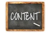 Blackboard Content — Stock Photo