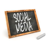 Blackboard Social Media — Stock Photo