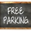 Blackboard Free Parking — Stock Photo