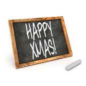 Blackboard Happy Xmas — Stock Photo