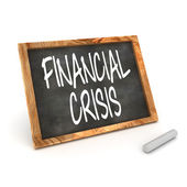 Blackboard Financial Crisis — Stock Photo