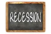 Blackboard Recession — Stock Photo