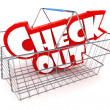 Stock Photo: Checkout Basket Illustration