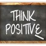Постер, плакат: Think Positive Blackboard