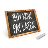 Buy Now Pay Latter Blackboard — Stock Photo