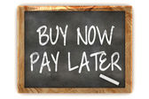 Buy Now Pay Later Blackboard — Stock Photo