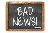Blackboard Bad News — Stock Photo