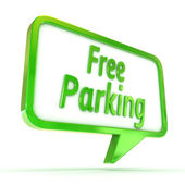 "Speech Bubble ""Free Parking"" — Stock Photo"