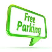 "Speech Bubble ""Free Parking"" — Stock Photo"