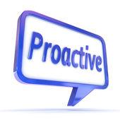 Speech Bubble Proactive — Stock Photo