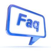 Speech Bubble FAQ — Stock Photo