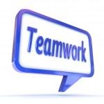 "Speech Bubble showing ""Teamwork"" — Stock Photo #49704651"