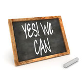 "Blackboard showing ""Yes We Can!"" — Stock Photo"
