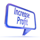 "Speech Bubble showing ""Increase Profit"" — Foto Stock"