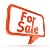 "Speech Bubble showing ""For Sale"" — Stock Photo"