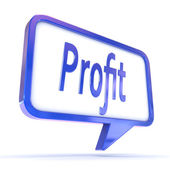 "Speech Bubble showing ""Profit"" — Stock Photo"