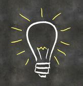 Blackboard Light Bulb — Stock Photo