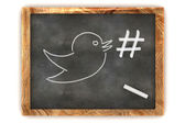 Blackboard Hashtag Social Media — Stock Photo