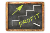 Blackboard Profit Graph — Stock Photo