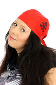 Woman with a pirate hat — Stock Photo