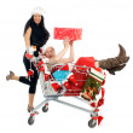 圣诞购物 — 图库照片