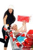 Shopping di natale — Foto Stock