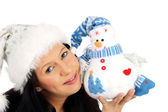 Winter soft toy — Stock Photo