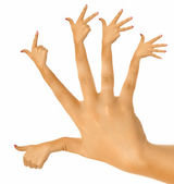 The perfect hand — Stock Photo