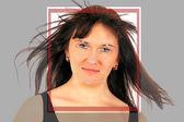Biometrické tvář detekce — Stock fotografie
