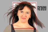 Biometric face detection — Stock Photo