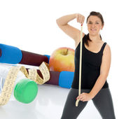 Sporty woman - healthy living — Stock Photo