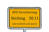 German sign — Stock Photo