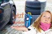 Now change tires — Stock Photo