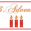 3. Advent — Stock Photo #15027361