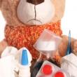 Sick Teddy — Stock Photo
