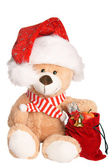 Christmas Teddy — Stock Photo