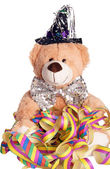 Teddy having a party — Stock Photo
