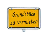 German sign — Stock Photo