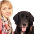 Woman and Dog — Stock Photo #18241027