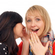 Two girlfriends — Stock Photo