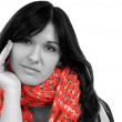 Black haired woman — Stock Photo