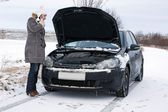 Auto in de winter — Stockfoto