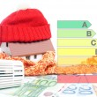 Stock Photo: Heating costs
