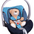 Royalty-Free Stock Photo: Teddy in the car seat